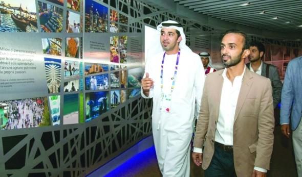 أحمد النعيمي يزور جناح الإمارات في إكسبو ميلانو